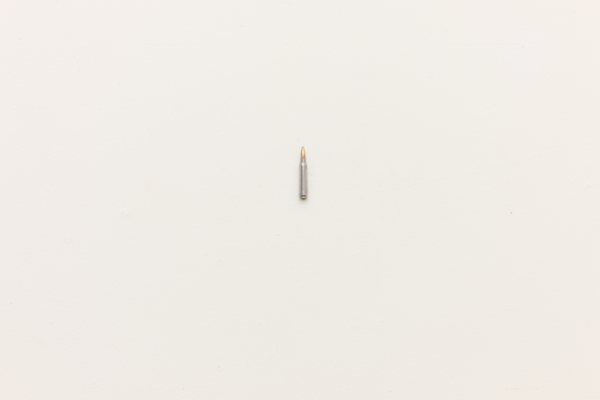 """Genesis of a Portrait"" High Polished 5.56mm Live Bullet, 2010, 4″x.5″x.5″"