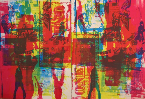 """Disko Inferno 2005″ 4 color silkscreen, 2005, 44 x 30″"