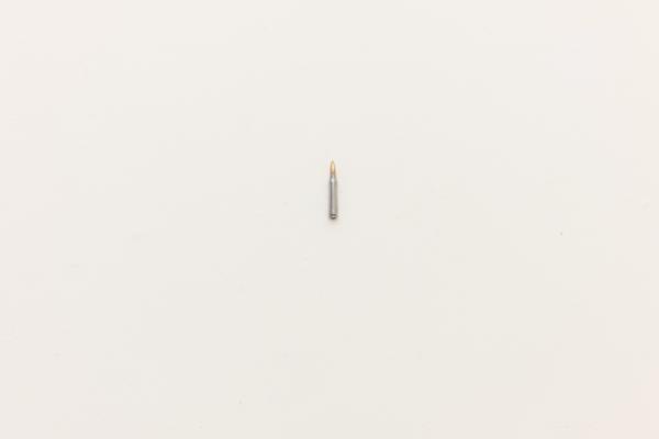 """Genesis of a Portrait"" High Polished 5.56mm Live Bullet, 2010, 4″x.5″x.5″"