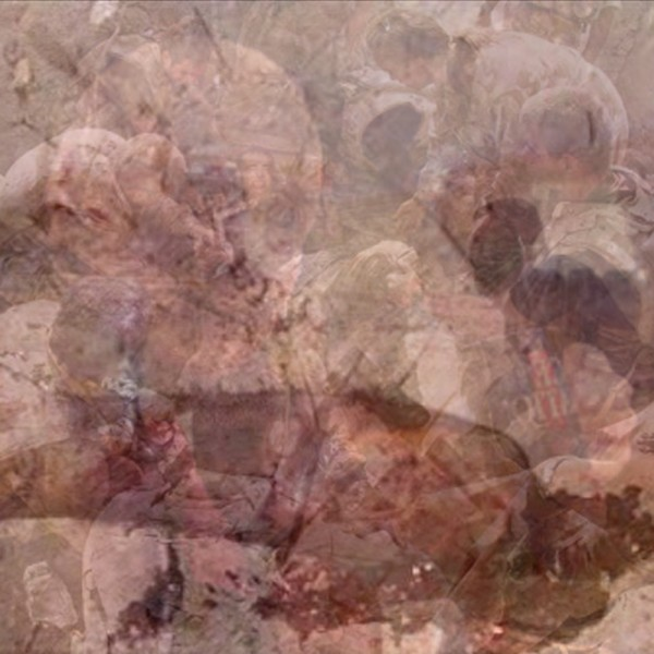 """""""Latent Savagery 4″, Composite Digital Photograph of Censored Images  2008"""