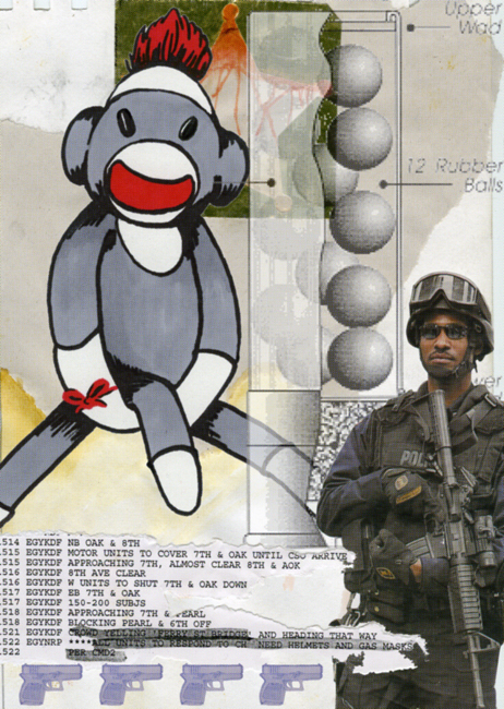 """Deputy Abu"" 4 color silkscreen on paper, 2006, 28X18″"