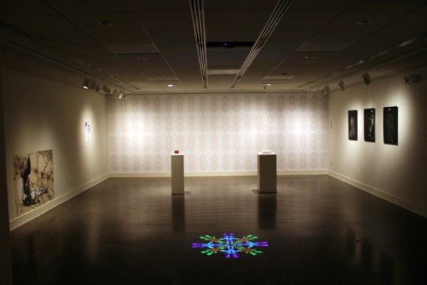 """Couture Installation Shot"" Samuel Dorsky Museum, 2007, 20 x 23 x 20′"