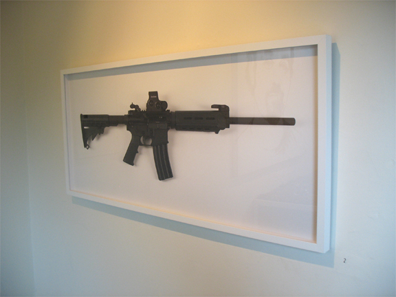 """Portrait of an Anonymous Lover (install shot)"" Photograph, 2010, 41″x19″"